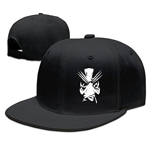 WAWAHAT 野球帽 キャップ HAT 最強 スーパーヒーロー 平らつば スポーツ 通気性 男女兼用 Black