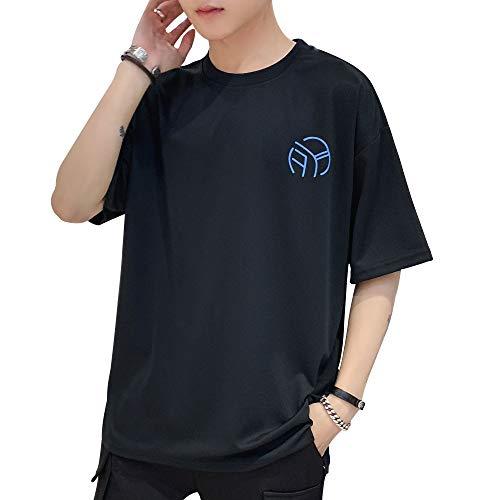 cf03d6d1c055a1 【パーフェクト人生】夏服 メンズ Tシャツ 半袖 Tシャツ 五分袖 七分