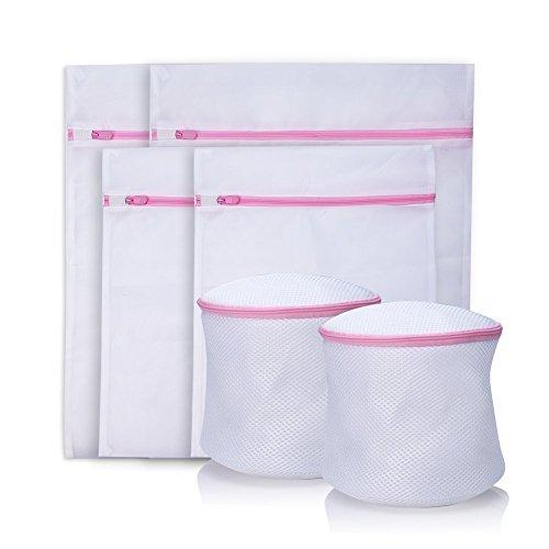 【6枚】洗濯ネット 洗濯袋 ランドリーネット 大型 中型 小型 細かい網目 角型 円筒型ブラジャーネット メッシュ洗濯袋 洗濯機用、旅行用、収納用