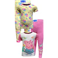 Peppa Pig Girls Fairy and Butterflies 4 Piece Cotton Toddler Pajamas Pink 0708b7066