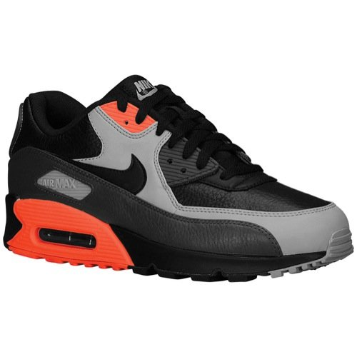 Nike Air Max 90 LTR 652980-002 NSW Running Black/Medium Ash-Infrared