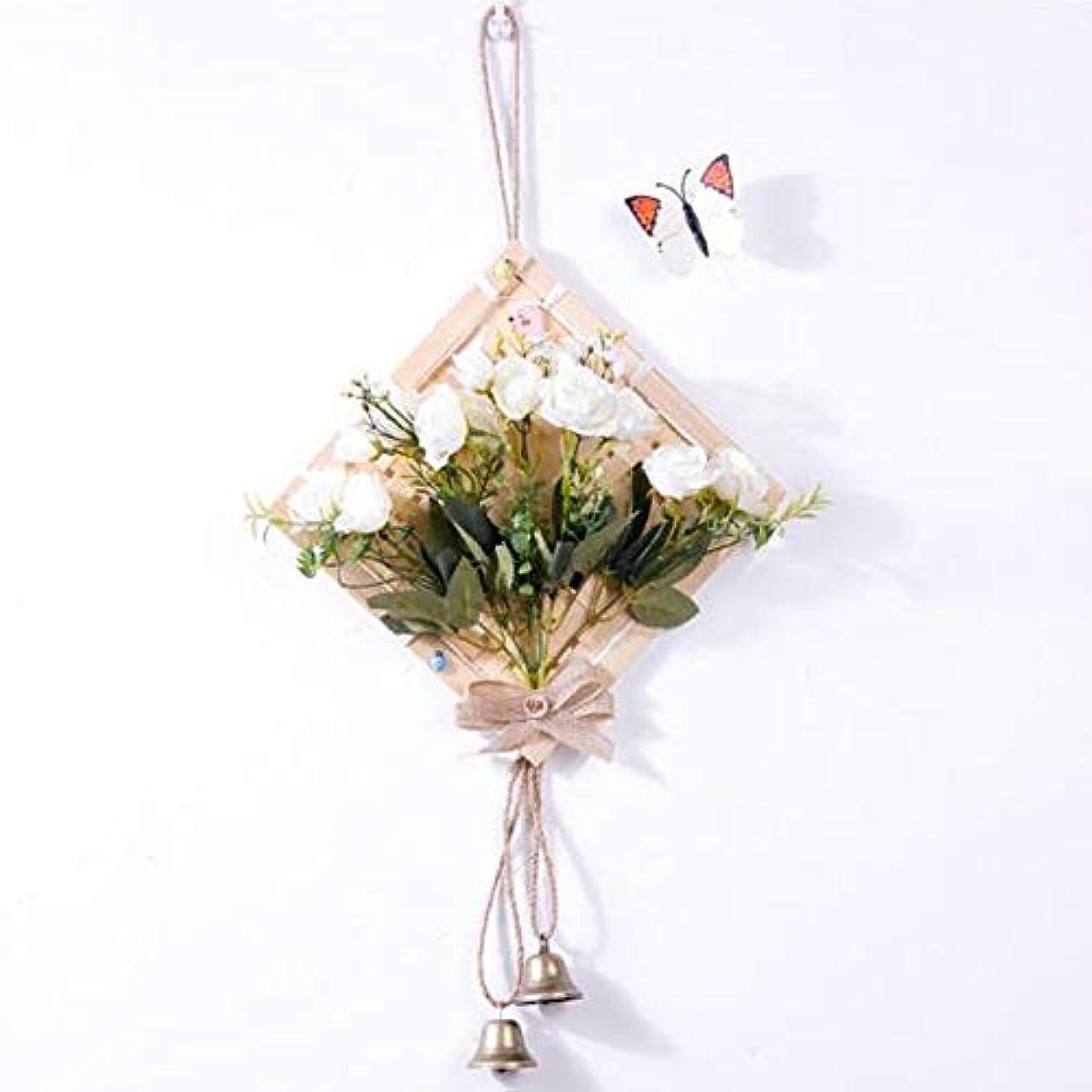 見落とす滅びるチャレンジHongyuantongxun 風チャイム、クリエイティブ?竹風チャイム、白、幅28.5cmくらい,、装飾品ペンダント (Color : White)