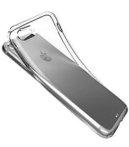 KINTA iPhone 7 専用 クリアケース 耐衝撃 ソフトケース ストラップホール ジェットブラック非対応 | クリア KNIPH721-CLR