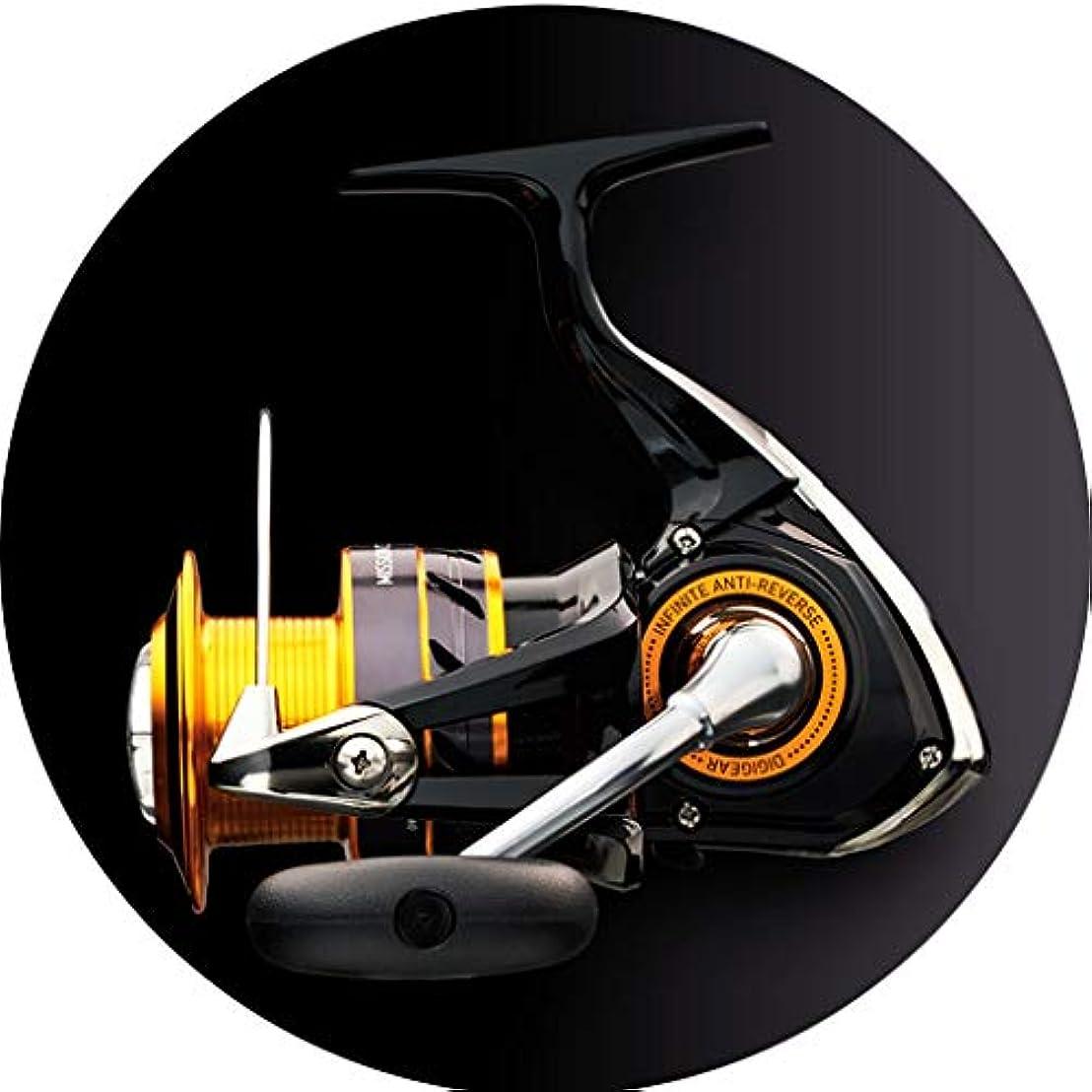 負荷腐敗したクアッガスピニングリール 釣りリール釣りリールスピニングスプールは磁気ブレーキシステムを持っています強い耐食性金属海水餌スプールギフト