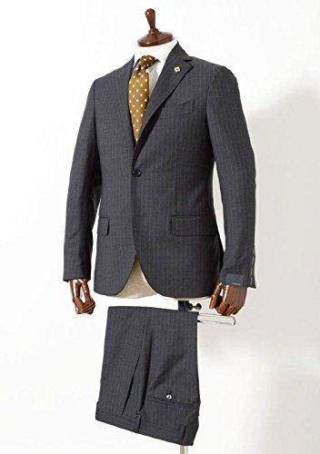 LARDINI(ラルディーニ) [春夏] 3B トロピカル ピンストライプ ウールスーツ グレー