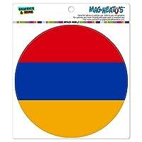 アルメニア国立国旗 - サークル MAG-格好いい'S(TM)カー/冷蔵庫マグネット