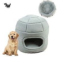 1ペットソファ、すべり止め折り畳み式のソフトの洞窟、フリース圧縮性スポンジ、猫と犬のために暖かい家庭のペットベッド2,A