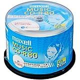 maxell 音楽用CD-R インクジェットプリンター対応「ひろびろ美白レーベル」 80分 (50枚スピ CDRA80WP.50SP