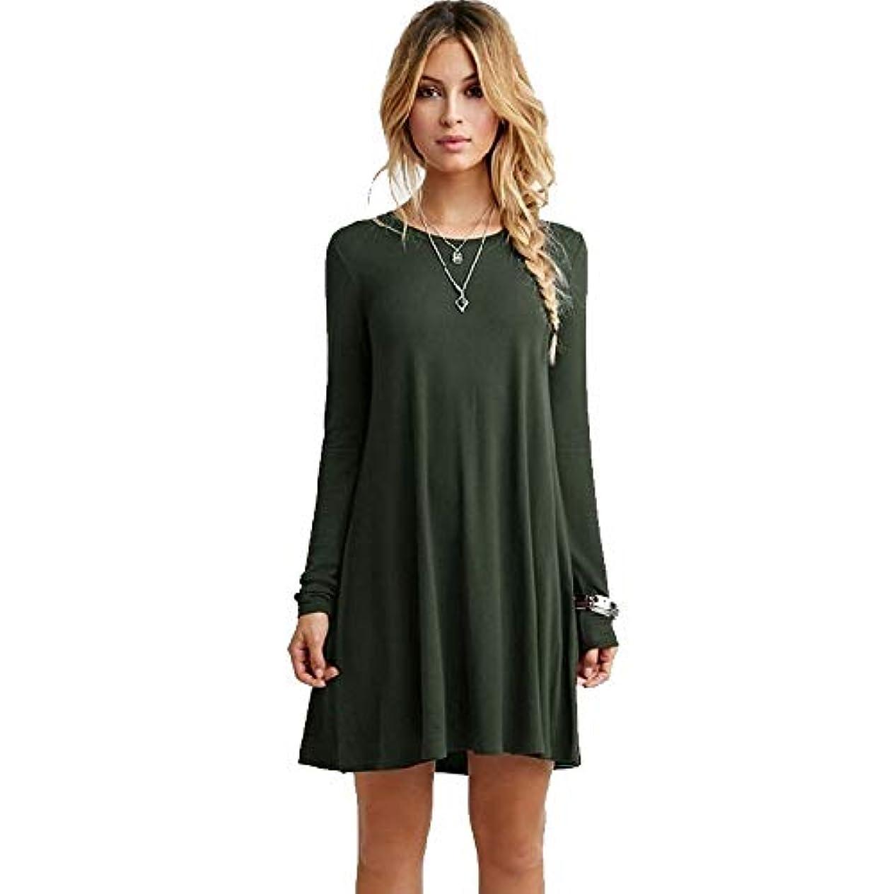 立証する時計流出MIFANルースドレス、プラスサイズのドレス、長袖のドレス、女性のドレス、秋のドレス、マキシドレス、コットンドレス