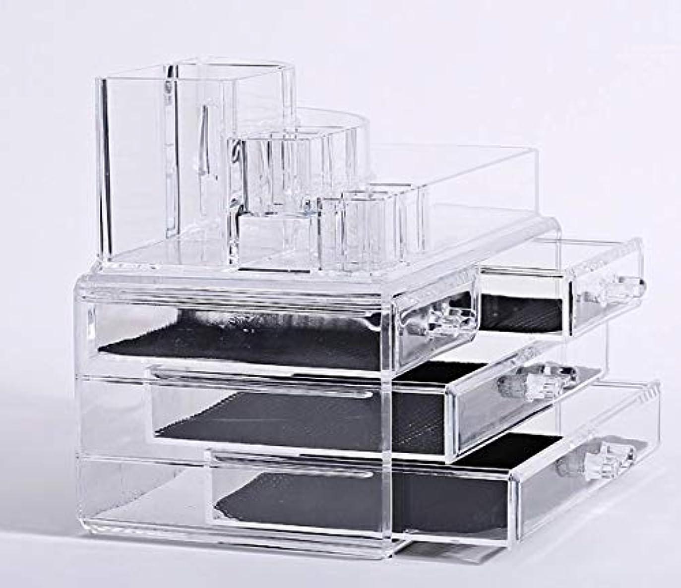 インドお風呂を持っている市長化粧品収納ボックス メイクケース メイクボックス コスメボックス 騒音なし 防塵 高透明度 強い耐久性 整理簡単 引き出し小物