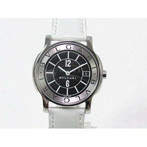 [ブルガリ] BVLGARI ソロテンポ 腕時計 ウォッチ ステンレススチール(SS)×レザーベルト ST35S [中古]