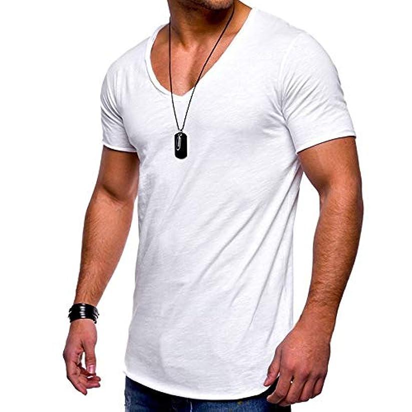 真空報酬の傷跡MIFAN メンズTシャツ、カジュアルシャツ、半袖、コットンTシャツ、Vネックシャツ、スリムTシャツ、トップス&Tシャツ、メンズトップス