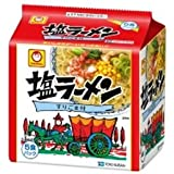 東洋水産 マルちゃん 塩ラーメン 5食パック×6セット 1ケース