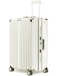 LNMLAN スーツケース アルミニウムマグネシウムフレーム 機内持ち込みスーツケース キャリーバッグ 静音キャスター 360°自由回転 旅行用4010-1