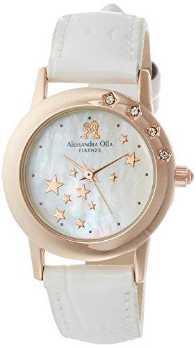 [アレサンドラオーラ]Alessandra Olla 腕時計 レディースウォッチ シューティングスター ホワイト AO-810 WH レディース