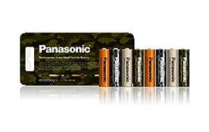 パナソニック eneloop トーンズ フォレスト 単3形充電池 8本パック BK-3MCC/8F