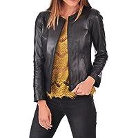 DOLLY LAMB Womens Leather Jacket Lambskin Genuine Womens Biker Jacket Black XS to XXL