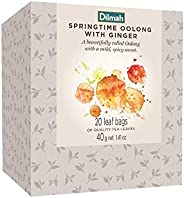 Dilmah Vivid Springtime Oolong with Ginger Teabags Refill Box, 40 Grams