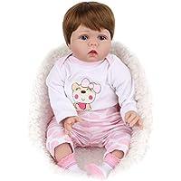 Manyao 55センチメートルシリコンビニールの人形ピンクの服新生児生き物の赤ちゃんのおもちゃ幼児期