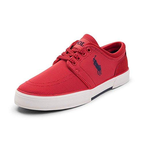 (ポロラルフローレン) Polo Ralph Lauren メンズカジュアルシューズ・スニーカー・靴 Faxon Low Red 8.5 27cm M [並行輸入品]