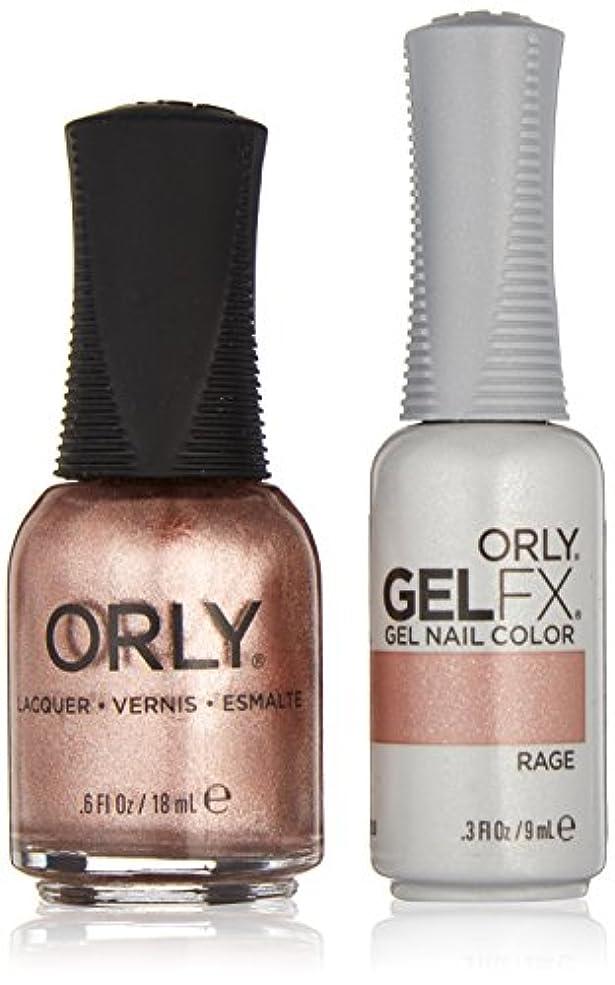 水銀の悲劇的なお酢Orly Lacquer + Gel FX - Perfect Pair Matching DUO Kit - Rage