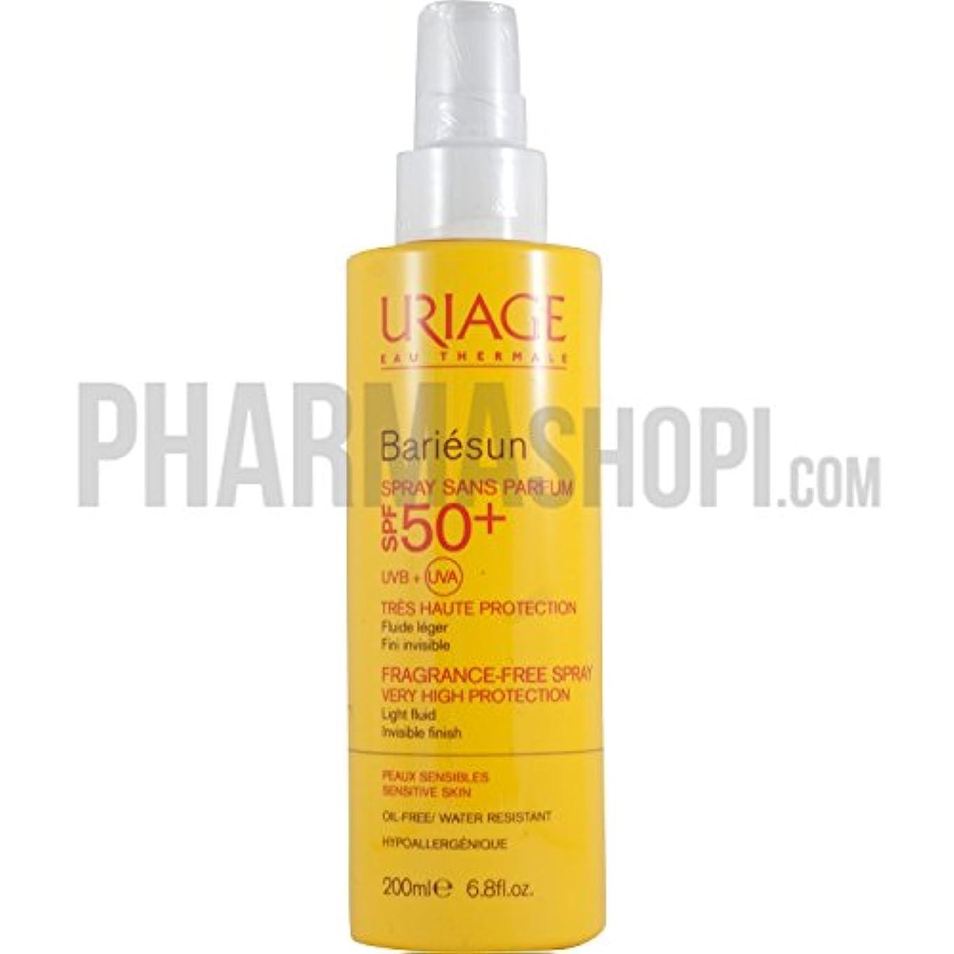 批判力学特徴づけるUriage Bariesun Spray No Perfume SPF50+ 50ml