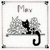 クロスステッチ(刺繍)用図案Calico Crossroad「5月 Bloomin' Kat」