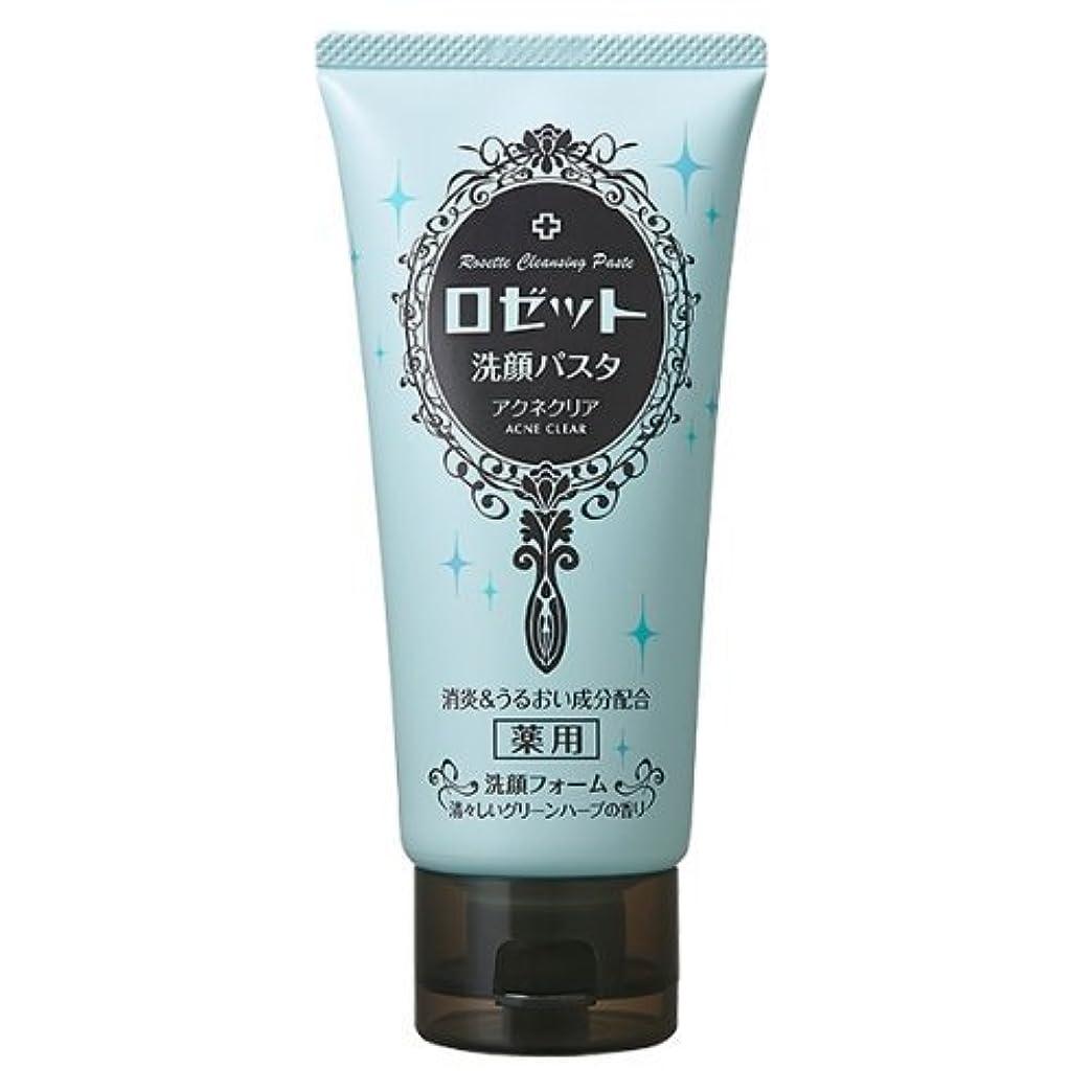 炭水化物一人で対応ロゼット 洗顔パスタ アクネクリア 120g
