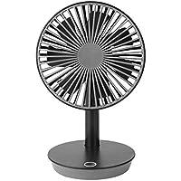 SHANGRUIYUAN-Mini Fan Multifunction Table Fan Mini Portable USB Super Mute Laptop Cooler Mini Fan Office Computer Desktop Fan 4 Speed Angle Adjustable (Color : Black)