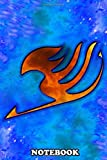 """Notebook: Blue Flame Fairy Tail Logo , Journal for Writing, College Ruled Size 6"""" x 9"""", 110 Pages"""