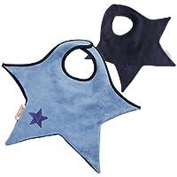 ララボイル リバーシブル星型ビブ クールスター ネイビー×ブルー