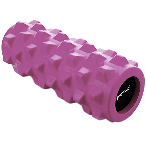 Motomo フォームローラー ストレッチローラー 筋膜リリース マッサージ 腰痛・肩コリ・筋肉痛を改善 (ピンク)