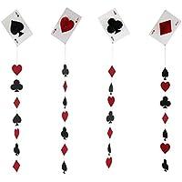 P Prettyia 4個 ハニカムボール ポーカーカード