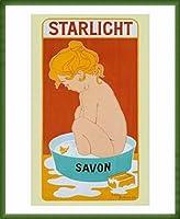 ポスター ノーネーム STARLIGHT SOAP 額装品 ウッドベーシックフレーム(グリーン)