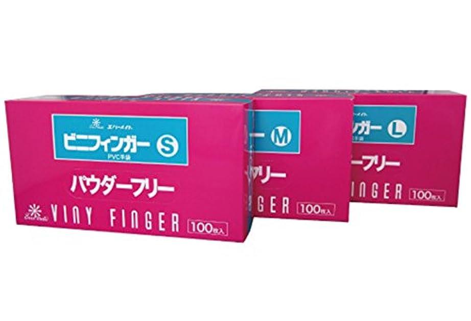 エバーメイト ビニフィンガーグローブ パウダーフリー 100枚入 (S)