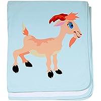CafePress – Goat – スーパーソフトベビー毛布、新生児おくるみ ブルー 048573630425CD2