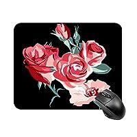 ロマンチックな花マウスパッド ゲーミング オフィス最適 高級感 おしゃれ耐久性が良 付着力が強い20x25x0.3cm
