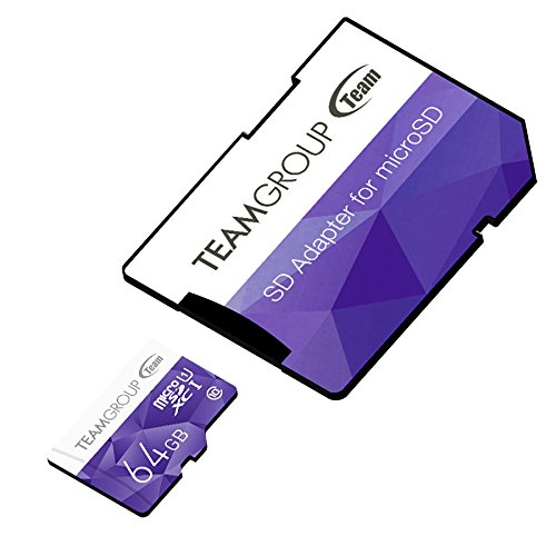Team Micro SDHC/SDXC UHS-1 COLOR CARDシリーズ 10年保証(64GB)