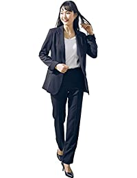 [nissen(ニッセン)] トールサイズ 洗えるタテヨコストレッチロング丈ジャケットパンツスーツ【リスピィ素材使用】 大きいサイズ レディース