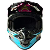 Fashion Professional Motorcycle Off-Road Safety Helmet Lightning Cattle Mountain Downhill Safety Racing Helmet ECE Pretty (Color : Pink, Size : M)