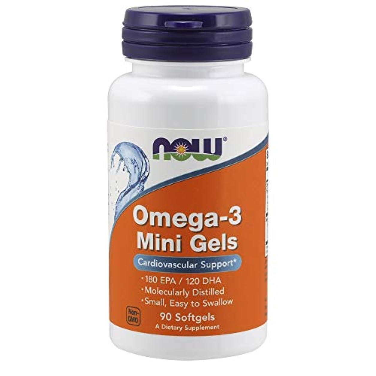 ボトル乗ってを通して[海外直送品] ナウフーズ   Omega-3 Mini Gels 90 softgels 500 mg