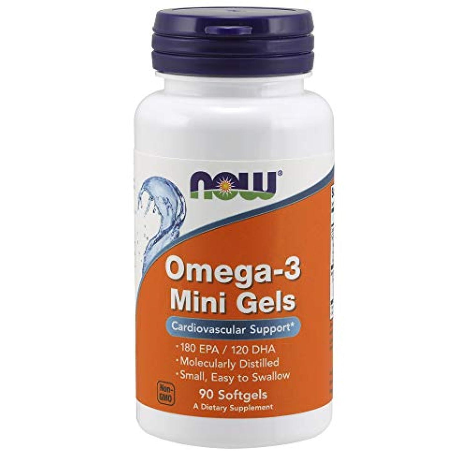 性格すずめもの[海外直送品] ナウフーズ   Omega-3 Mini Gels 90 softgels 500 mg