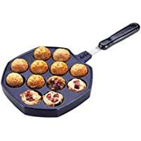 12穴たこやきパンMakes、Nonstickオクトパスボールグリルトレイ金型BakingプレートStuffed Pancake Pan DIYキッチン料理ツール
