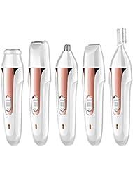 ポータブル鼻毛トリマー - 電動脱毛器具、USB充電器、多機能5つ1つ、眉毛形削りナイフ、ユニセックス (Color : 1)