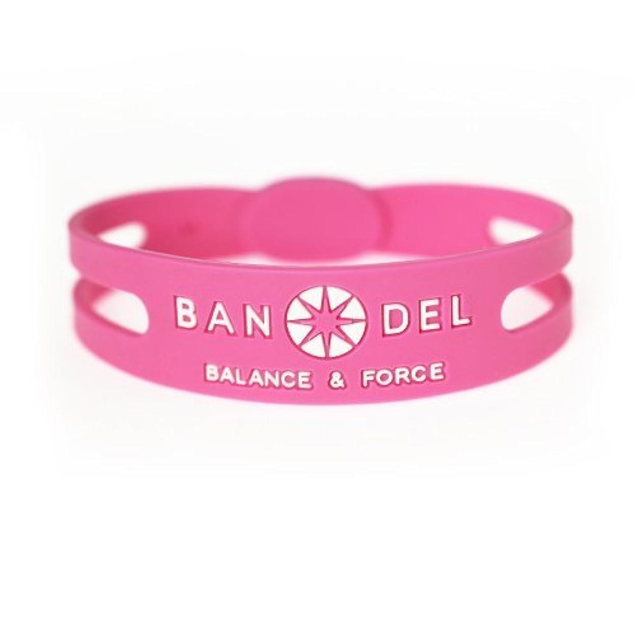 カナダこねる賢いバンデル(BANDEL) シリコン ブレスレット (ピンク×ホワイト) LLサイズ