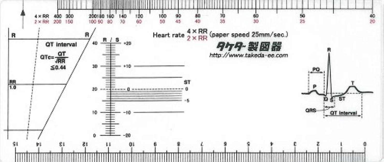 輝度スプレー発疹心電図スケール 25-3032 70×1.5×165mm /8-1212-01