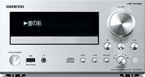 ONKYO ネットワークCDレシーバー ハイレゾ音源対応 シルバー CR-N755(S)