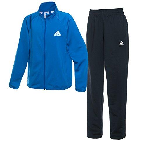 (アディダス)adidas トレーニングウェア ジャージ上下セット (ストレートパンツ) AAX01 [ボーイズ] AAX01 BP8815 ブルー J150
