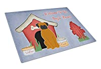 Carolines Treasures BB2869LCB Dog House Collection Fawn Boxer Glass Cutting Board, Large
