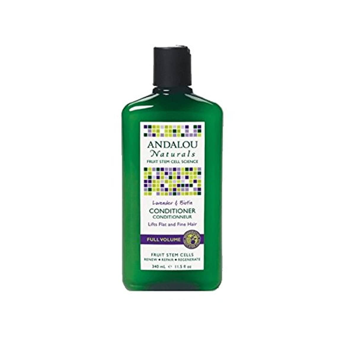 順番砂利マーチャンダイザーAndalou Lavender & Biotin Full Volume Conditioner 340ml (Pack of 6) - アンダロウラベンダー&ビオチンフルボリュームコンディショナー340ミリリットル...
